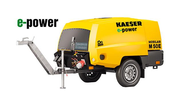 Электрический передвижной компрессор Mobilair E-Power
